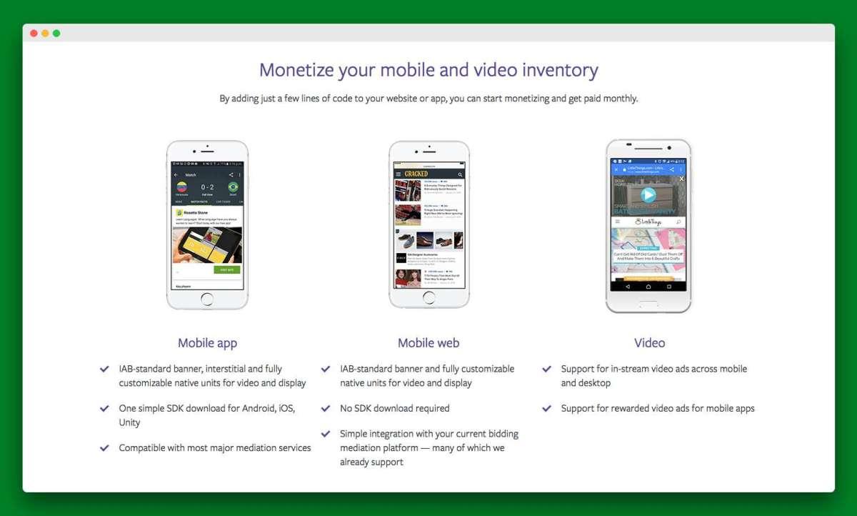 facebook monetization for apps