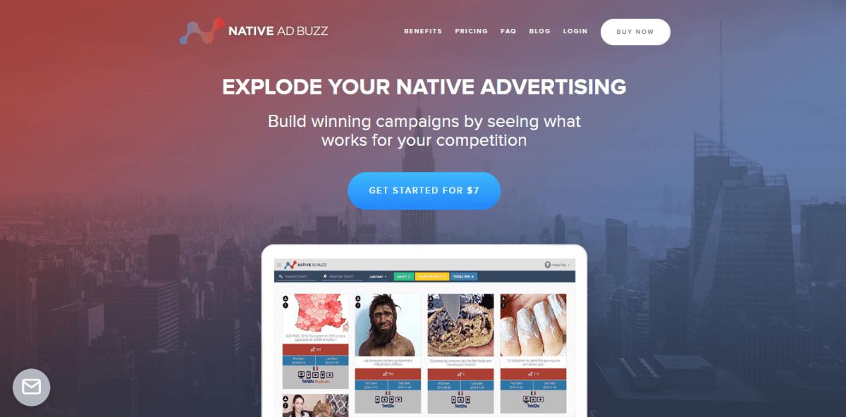 Native Ad buzz spy tool