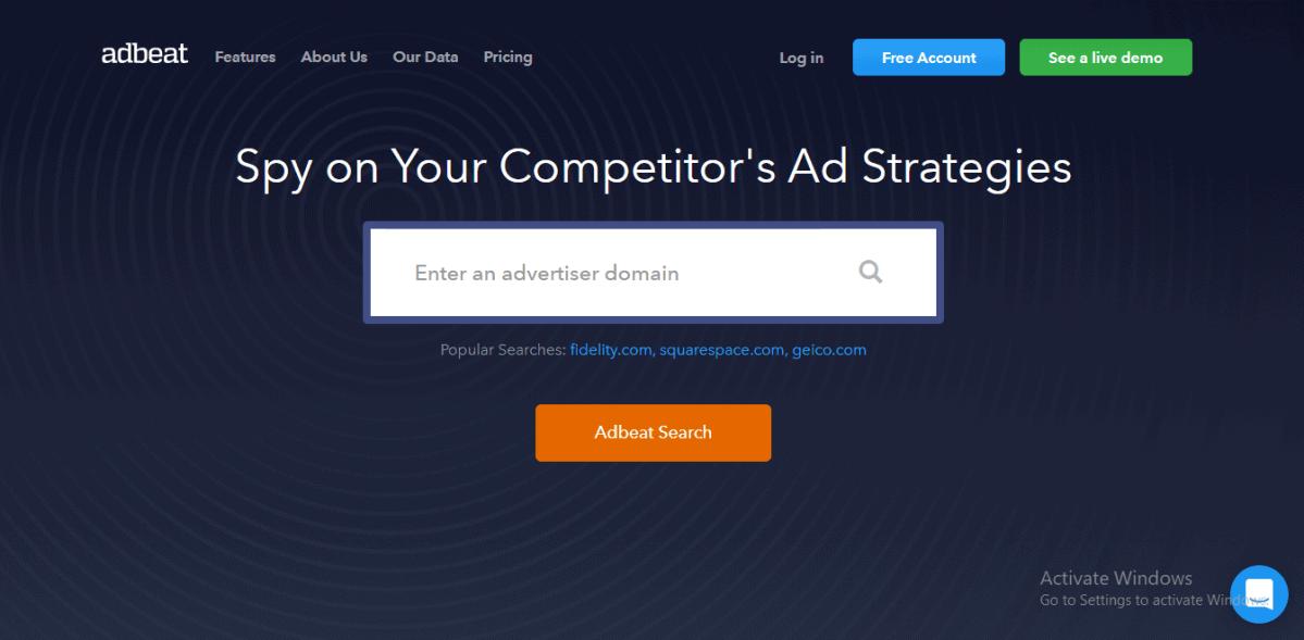 adbeat website preview