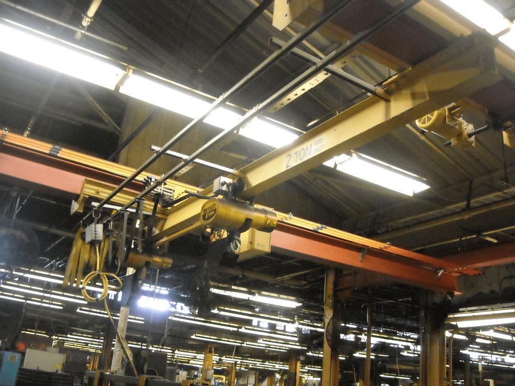 2 Ton Budgit Bridge Crane System 2 One Ton Hoists W