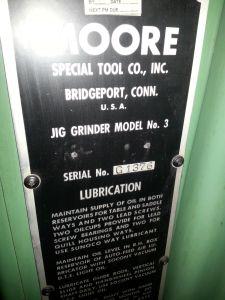 Moore Jig Grinder No. 3 6