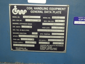 CWP Coil Feed Line 20000lb For Sale