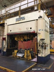150 Ton Federal Hydraulic Spotting Press For Sale (Small Bolster) 1