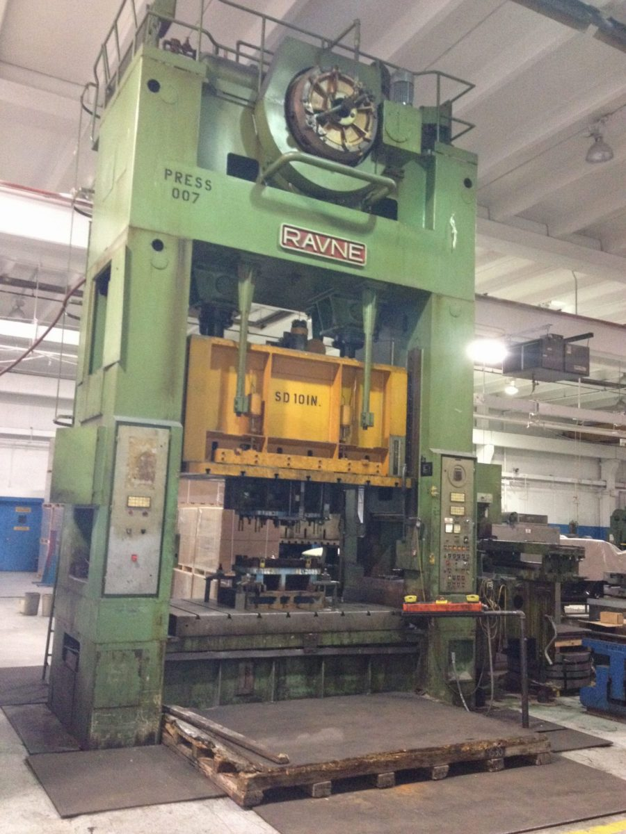 350 Ton Capacity Ravne Straight Side Press For Sale Call
