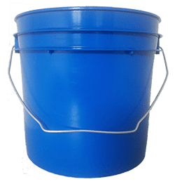 1 gallon pail chevron blue
