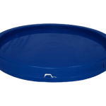 2 gallon lid chevron blue