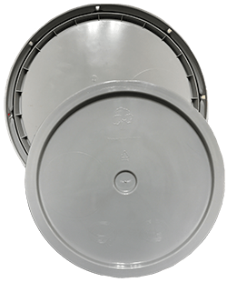 345 round pail lid grey