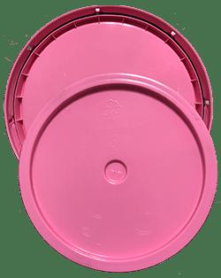 345 round pail lid pink