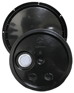 345 round pail lid with spout black