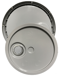 345 round pail lid with spout grey