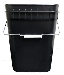 4 gallon container black