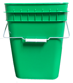 4 gallon container green