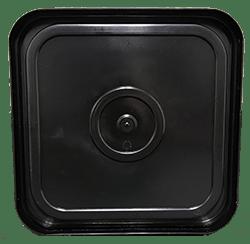 4 gallon square lid black