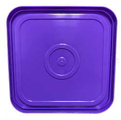 4 gallon square lid purple
