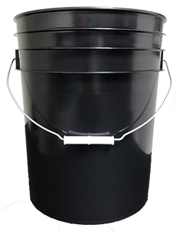 5 gallon pail black