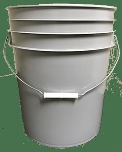 5 gallon pail grey