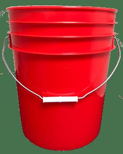5 gallon pail red
