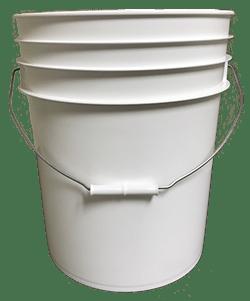 5 gallon pail white