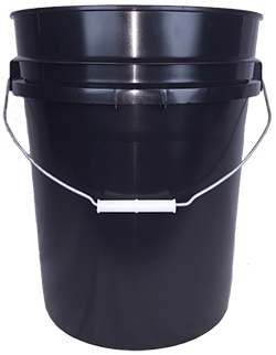 5.25 gallon pail black