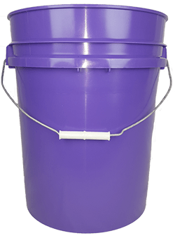 5.25 gallon pail purple