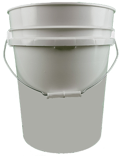 5.25 gallon pail white
