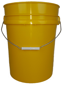 5.25 gallon pail yellow