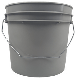 1 gallon pail grey