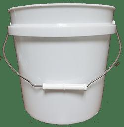 whtie 2 gallon pail metal handles plastic grip