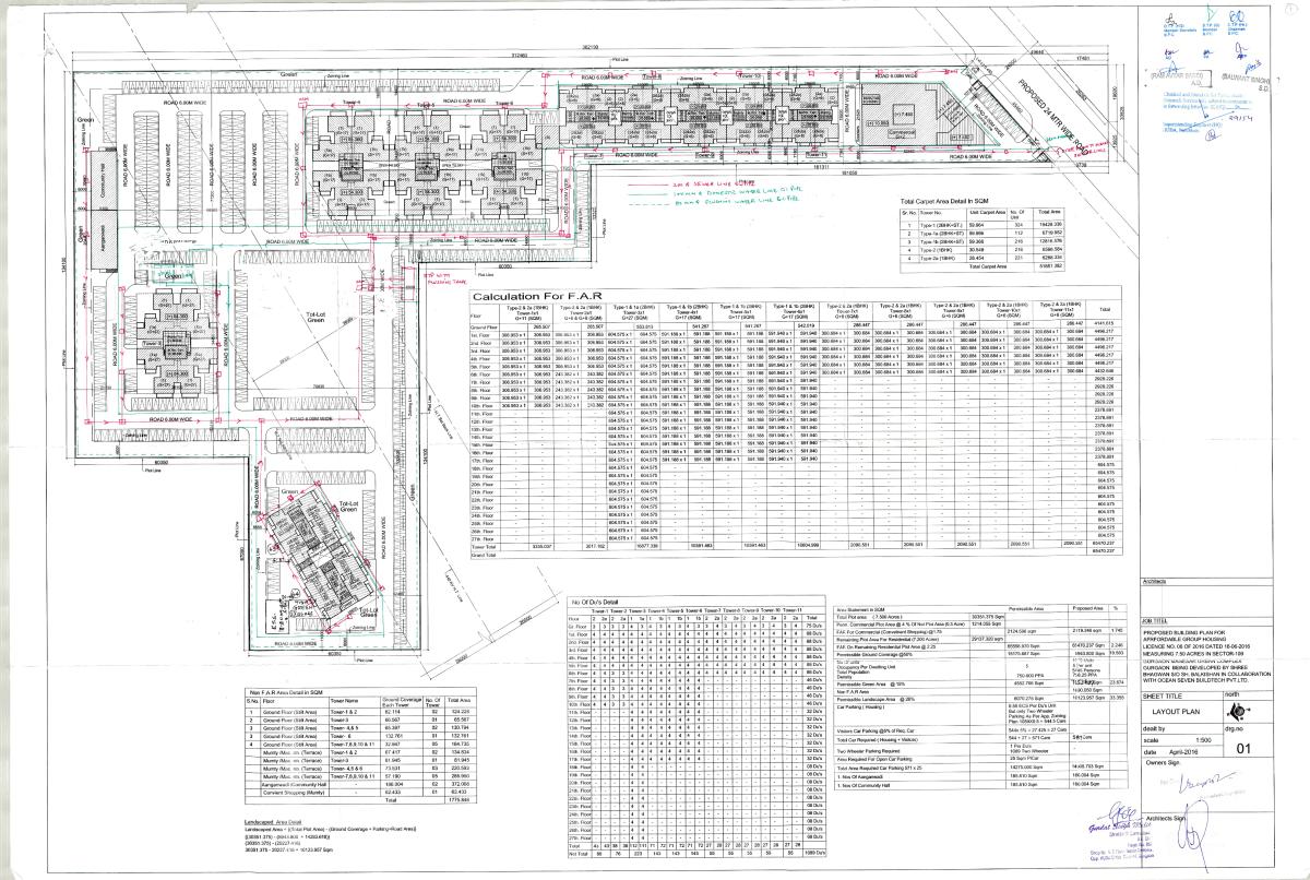 osb expressway tower site plan