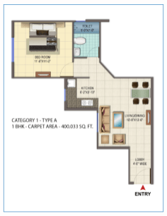 Signature Orchard Avenue 1 BHK type A