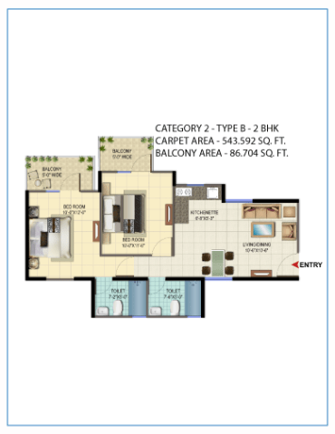 Signature Orchard Avenue 2bhk type b