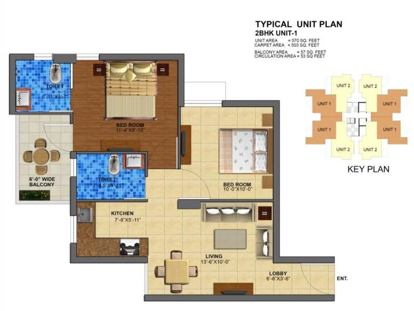 zara-rossa-floor-plan-2bhk-type1