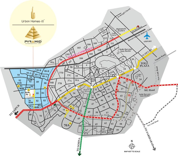 Pyramid Urban Homes 2 Location Map
