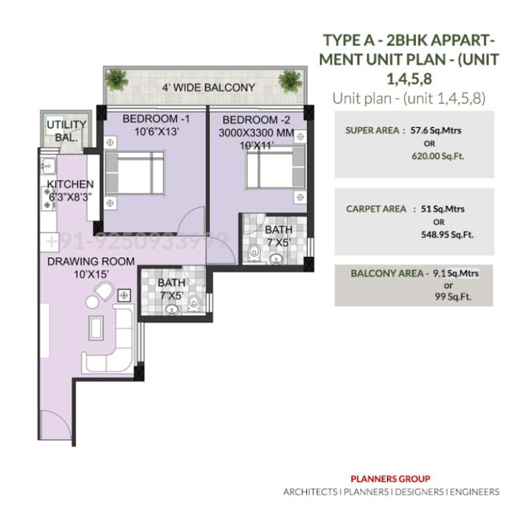 Breez Hill View TYPE-A-2BHK-APPARTMENT