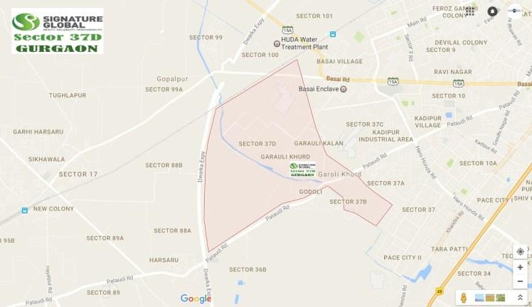 Signature Global Signum 37D Location Map