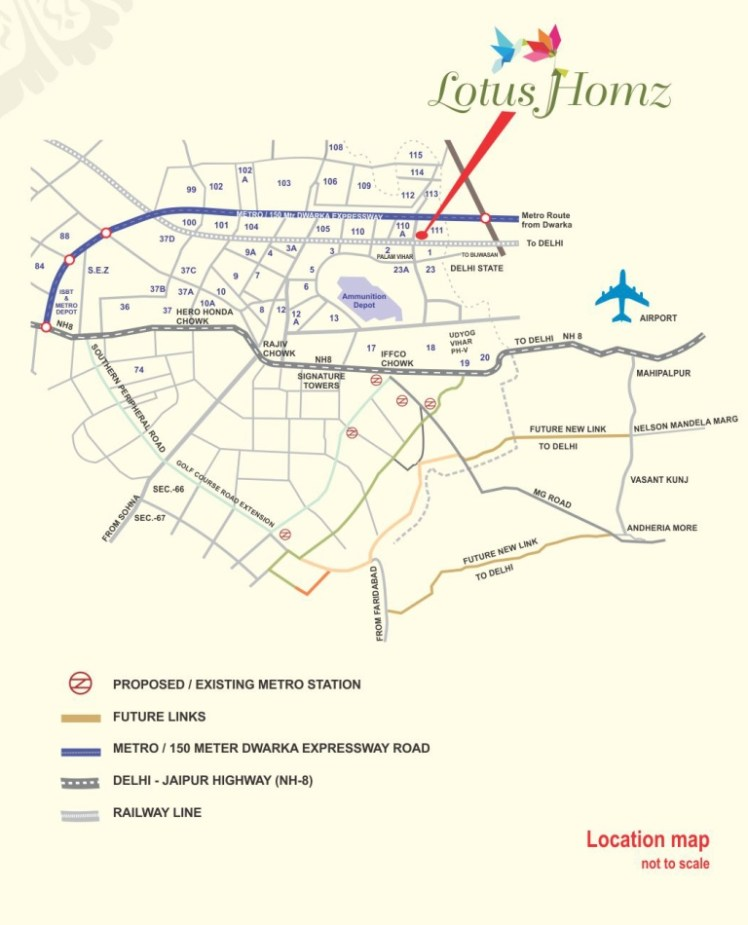 lotus homz location map