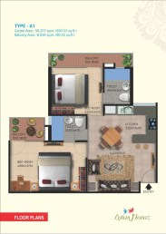Type A1 - 2bhk