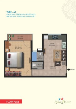 Type A7 - 1Bhk