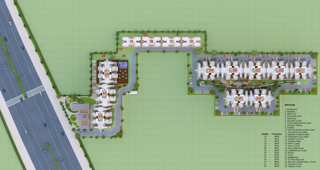 Site Plan Imperia Aashiyara