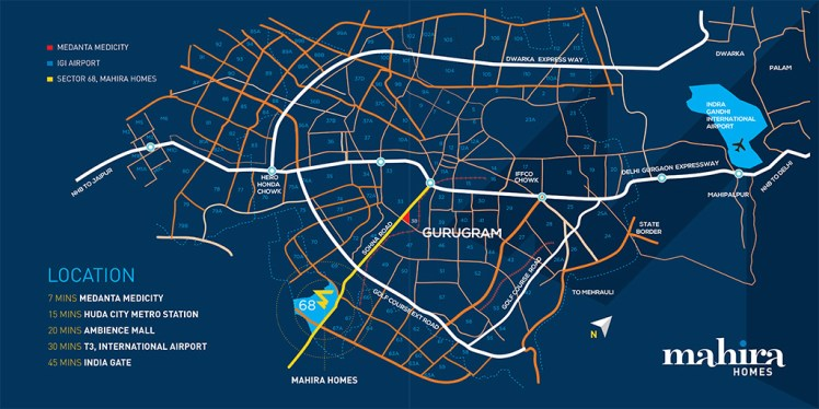Mahira Homes Location Map