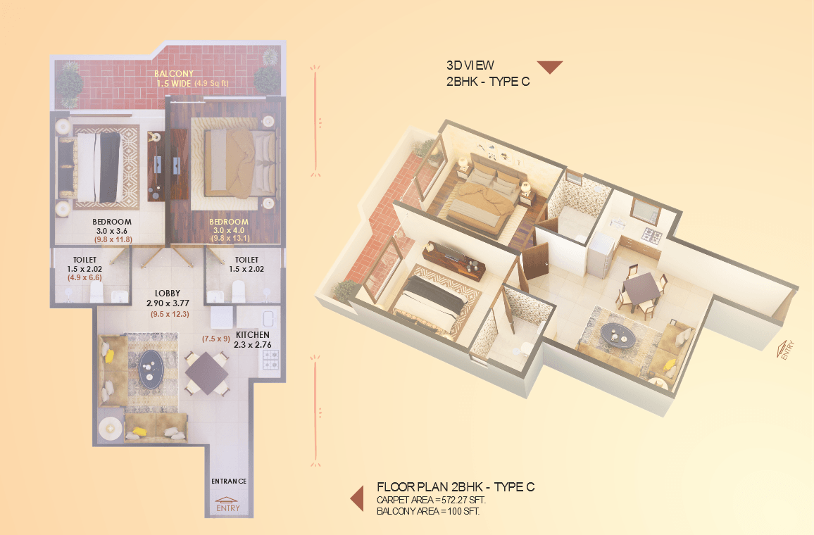 Elite 2BHK Type C