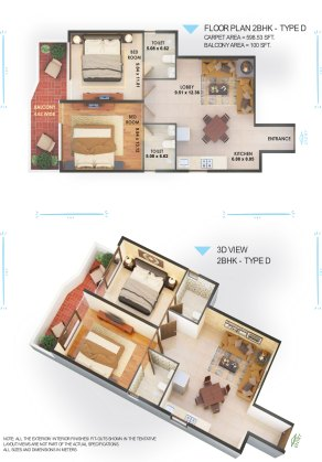 Fusion-2BHK-Type-D