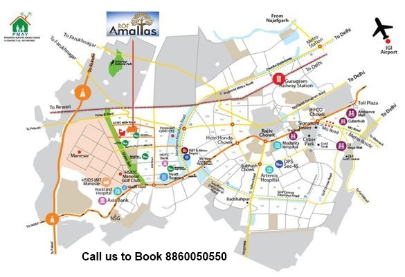 ROF-Amaltas-sector-92-location-map