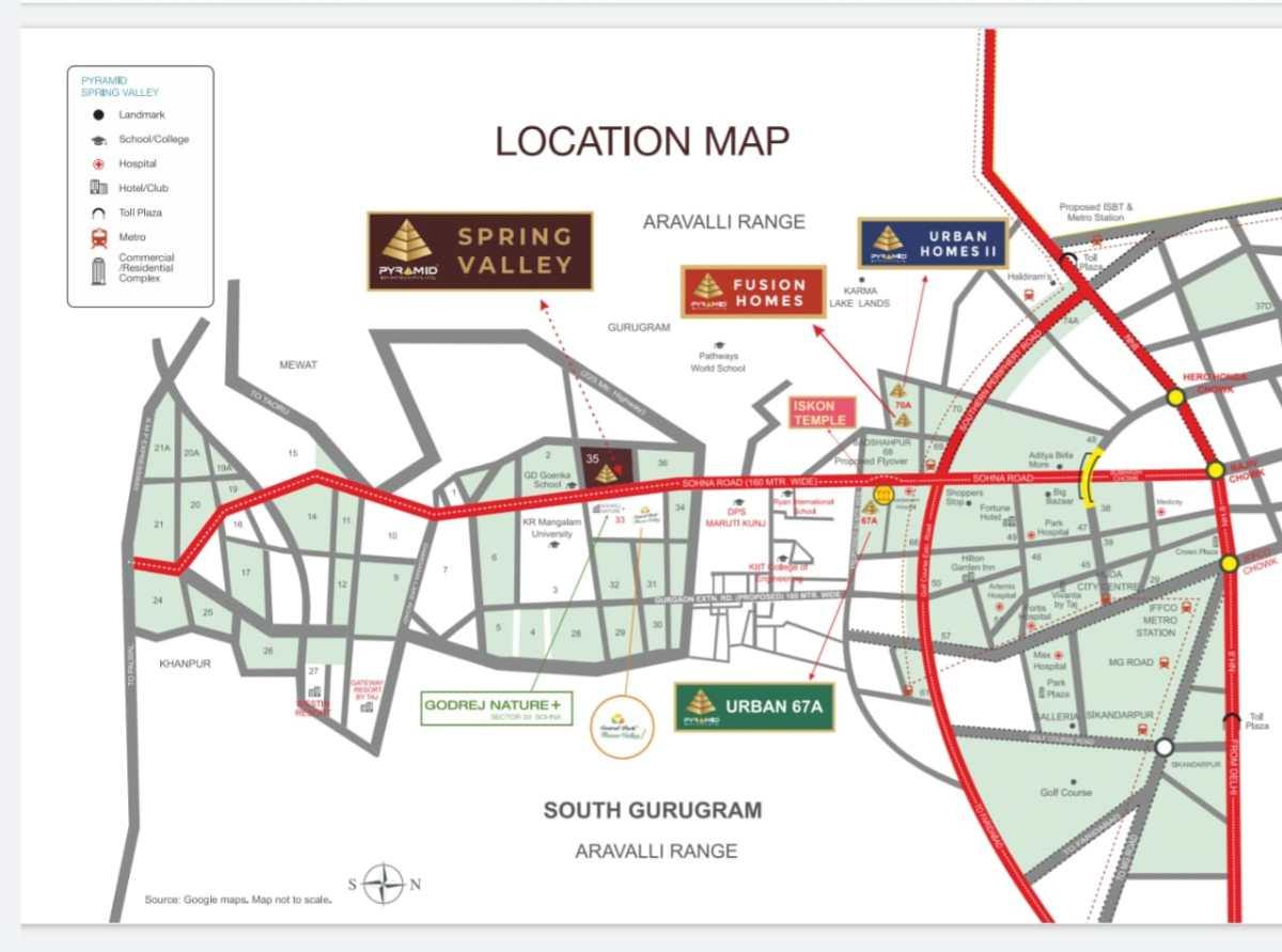 Pyramid Spring Valley Location Map