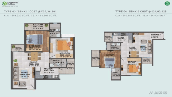 Proxima Floor Plan Type 3 and Type 4
