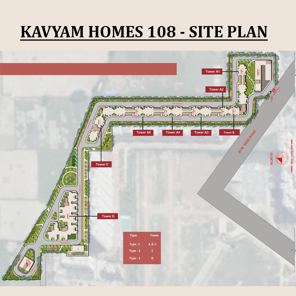 Kavyam Homes 108 Site Plan
