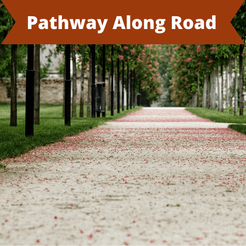 pathway along road
