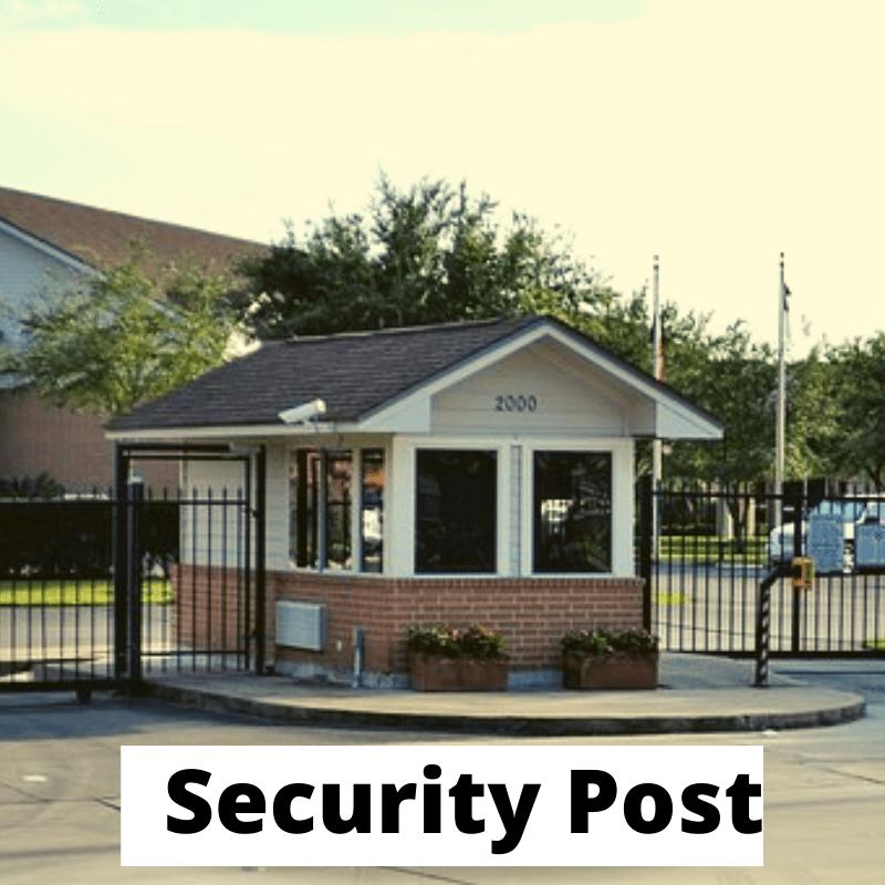 landmark the homes 81 security post