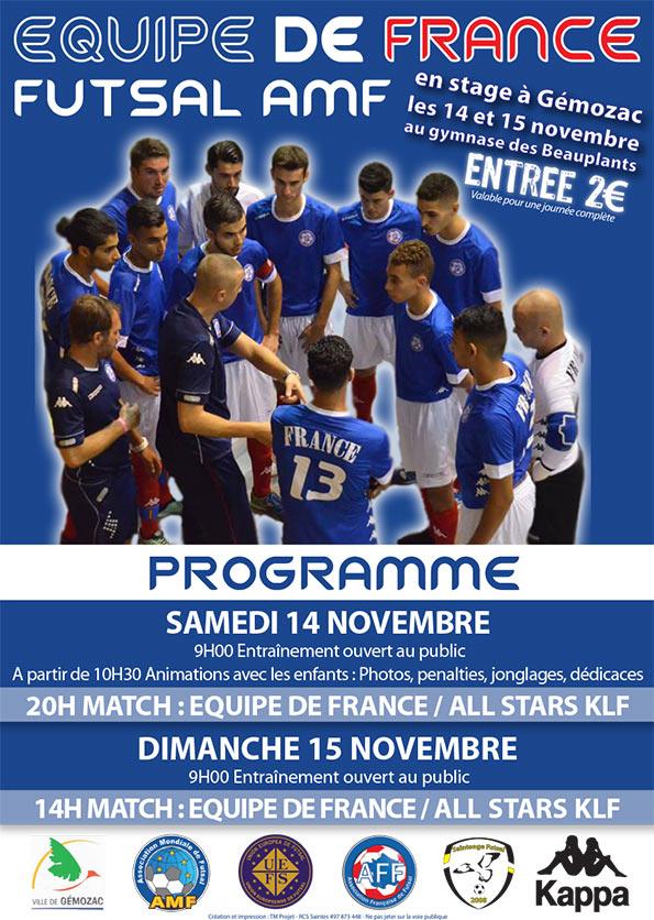 L'Équipe de France de Futsal AMF