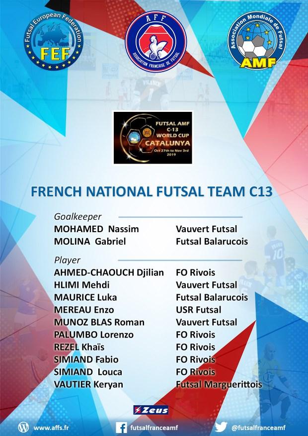french national futsal team aff c13
